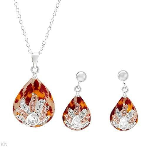 Sterling Silver Crystals and 2.2 CTW Cubic Zirconias Ladies Jewelry Set. Length 24 in. Total Item weight 3.7 g. VividGemz. $35.00