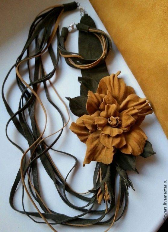 """.Колье, браслет и сумочка .Комплект """"Песочный"""". Handmade."""