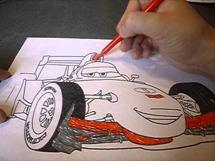 Раскраски Тачки disney pixar cars 2 Раскрашиваем Тачки ...