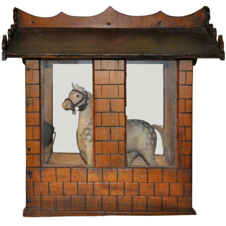 Danish handmade wooden toy stable and horse: Horse Stables, Antique Toys, 19Th Century, Century Toy, Vintage Toys, Toy Stable, Modern Toys