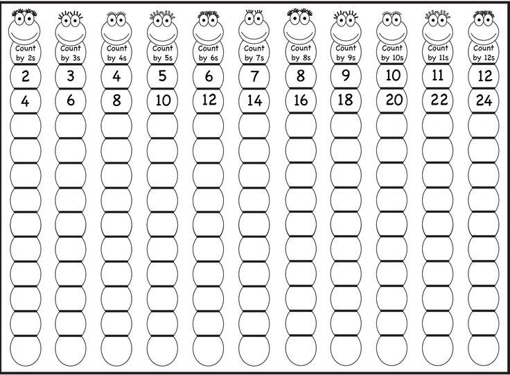 skip count by 5 worksheet 2-12