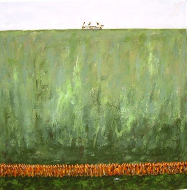 """""""Desagüe"""" acrílico/tela 100 x 100 cm. La conexión de un sueño y el autor. Una coincidencia!"""