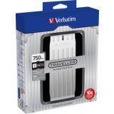 Verbatim Store 'n' Go Traveller Portable - USB 3.0 750GB Sølv