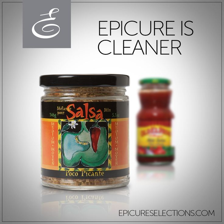 Epicure's Poco Picante Salsa burns up the competition! It has 70% less sodium than store-bought brands and can save you nearly $1.50 a cup. Best of all, from poco picante to muy caliente, you get to control the heat. #glutenfree