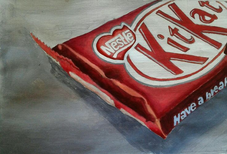 Acrylic #painting of a Kit-Kat bar 2016