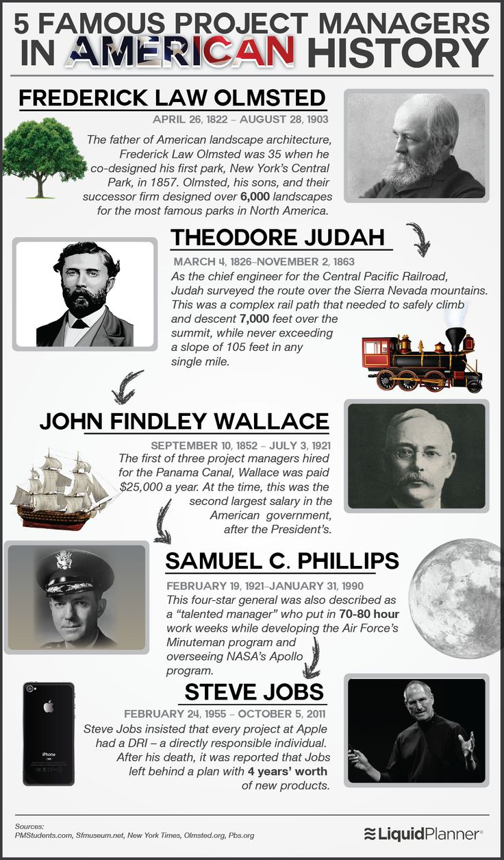 48 best project management images on pinterest project 5 greatest project managers in american history infographic xflitez Gallery