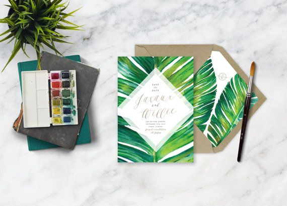 JARAUX SUITE // Botanical Tropical Plam Leaf Save by CitrusPressCo