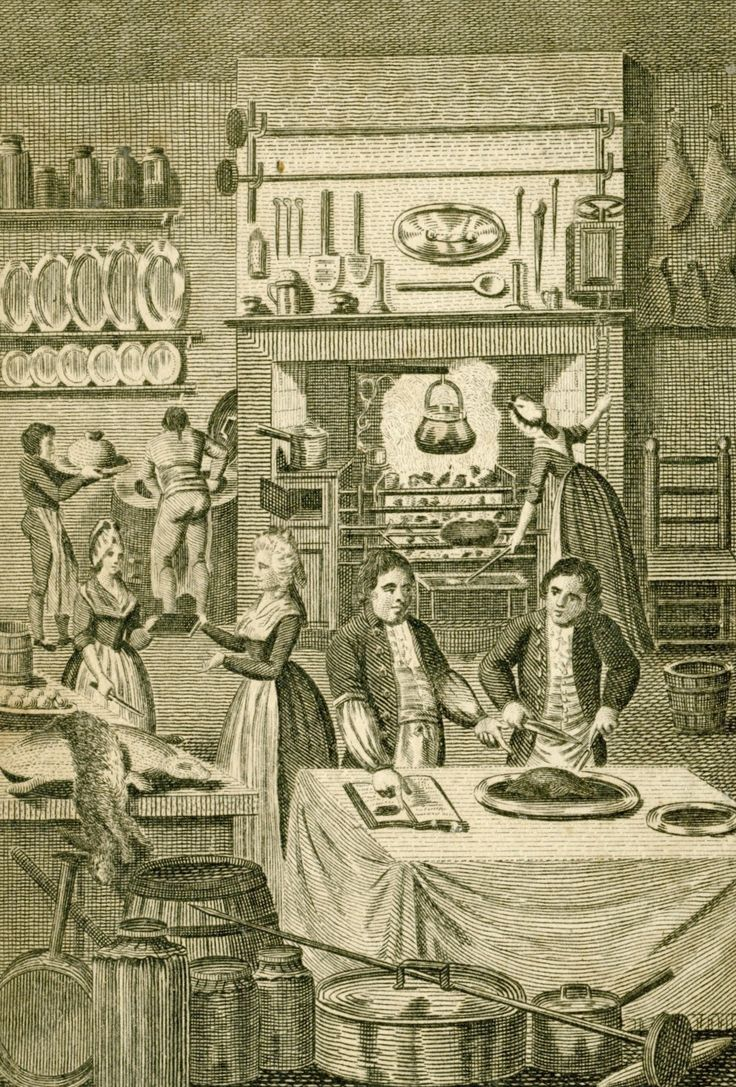 18th century kitchen scene. Some tight britches over there in the corner, I couldn't help noticing.