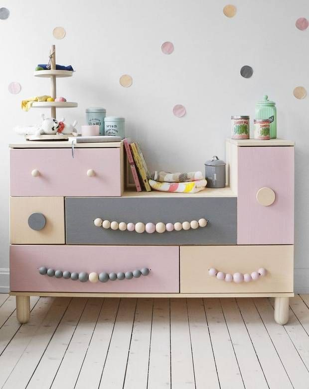 color blocked dresser