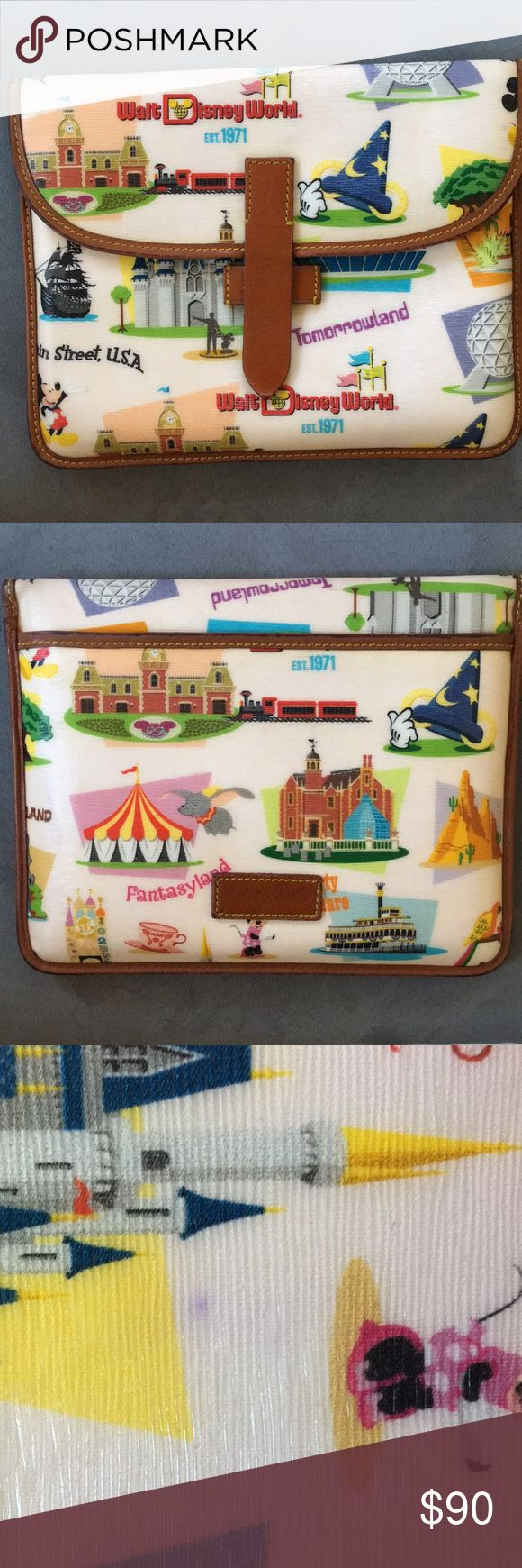 Disney iPad Case Dooney & Bourke iPad case. Used for an iPad Air 1 but could possibly fit a slightly larger iPad. Only one small ink stain but it is underneath the front flap. Dooney & Bourke Accessories