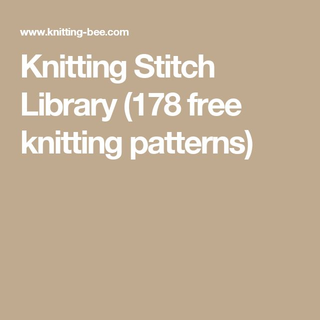 Knitting Pattern Stitch Library : 362 best images about Knit Stitch Dictionary on Pinterest