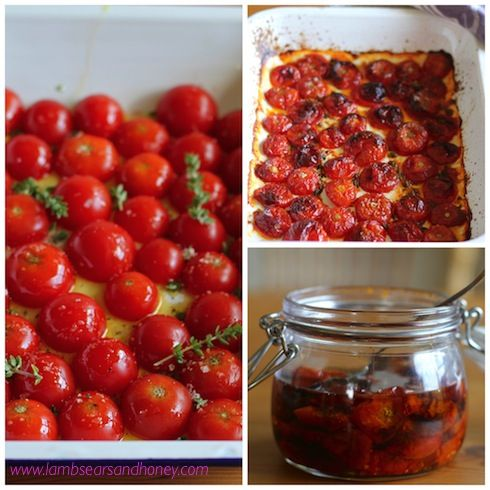 Cherry Tomato Confit - Little bombs of summer flavour to brighten up the duller days ahead.