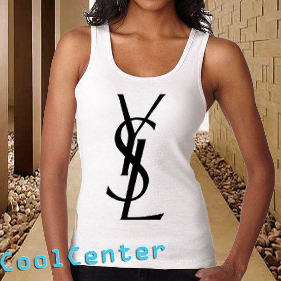 YSL Yvest Saint Laurent Logo tank top for womenprint by CoolCenter, $20.99