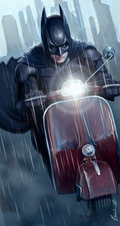 Let Catwoman borrow the Bat Bike they said. She'll return it they said. Sigh...