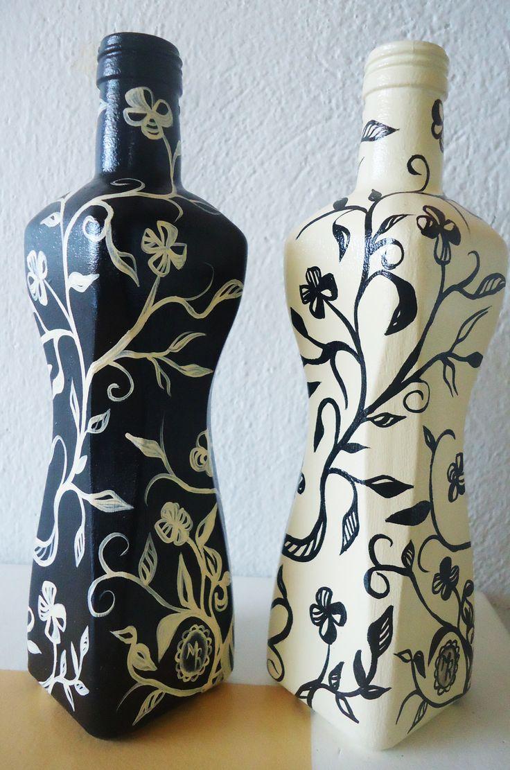 Garrafas de azeite recicladas.
