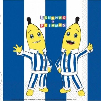 These Bananas In Pyjamas napkins are perfect for your party! Get a pack of 16 for only £2.70!