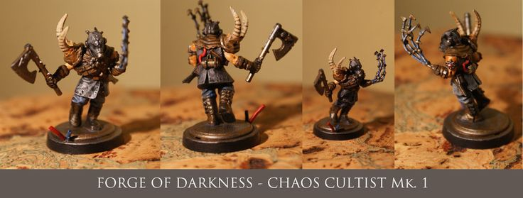 After many many years, today I finished my first miniature - Chaos Cultist Mk. 1 It's really amazing feeling to once again spend a few hours over a slow painting. I forgot a lot of things, a lot I have to learn, but it's really a nice feeling - back to the hobby.
