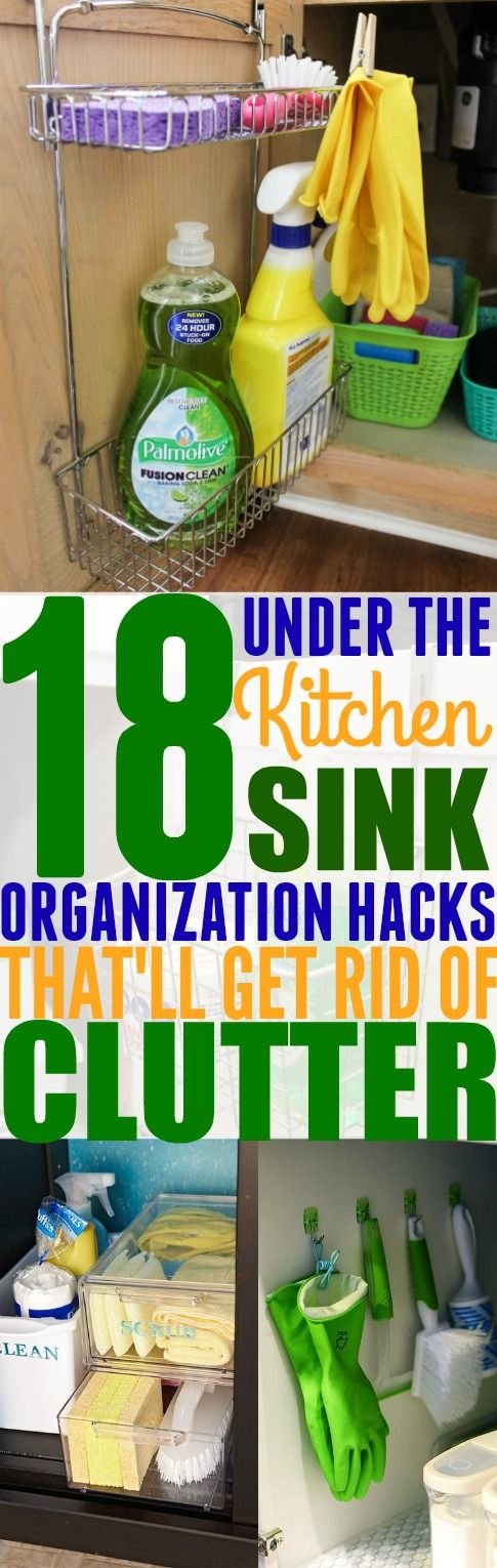 If you are tired of the clutter underneath your kitchen sink, then you need to try these 18 easy ways to organize underneath your kitchen sink. Pinning for later!