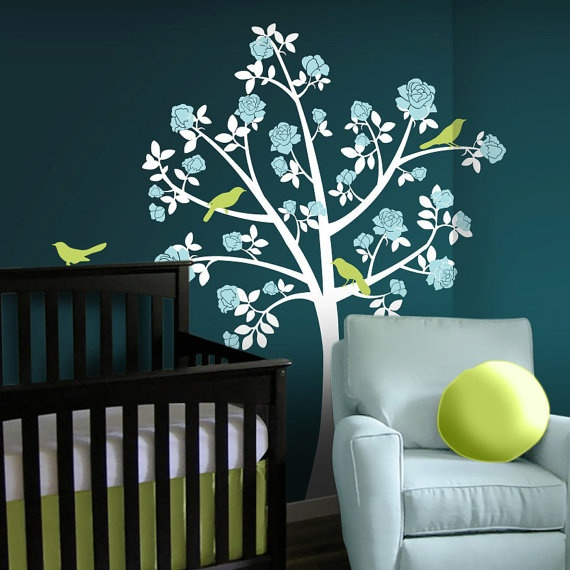 Amazing.  Check them outWall Colors, Chinoiserie Rose, Kids Room, Flower Trees, Decals Chinoiserie, Tree Wall Decals, Rose Trees, Trees Wall Decals, Nurseries Ideas