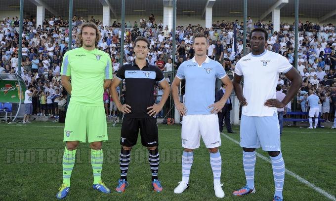 SS Lazio Macron 2012/13 Home, Away and Third Kits