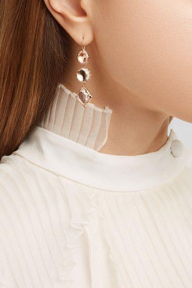 Larkspur & Hawk   Sadie rose gold-dipped quartz earrings   NET-A-PORTER.COM