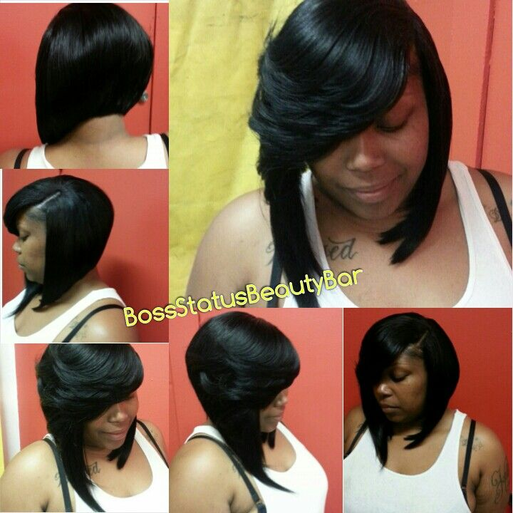 Feathered Bob Quick Weave Short Hairstyle