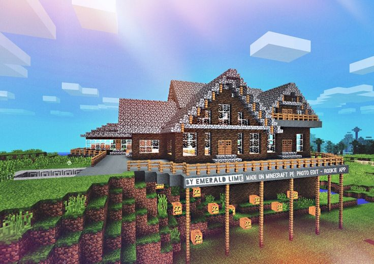The Conservatory ~ Built and Designed by Emerald Lime ~ Made on Minecraft PE ~ Photo Edit - Rookie App
