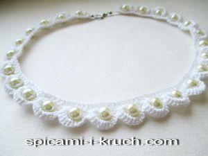 вязаное ожерелье мастер-класс