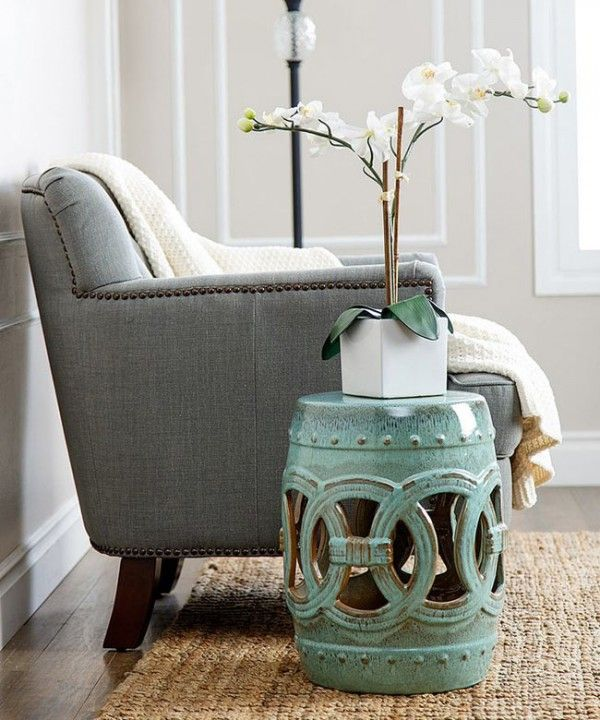 Elegant Garden Stool Side Table