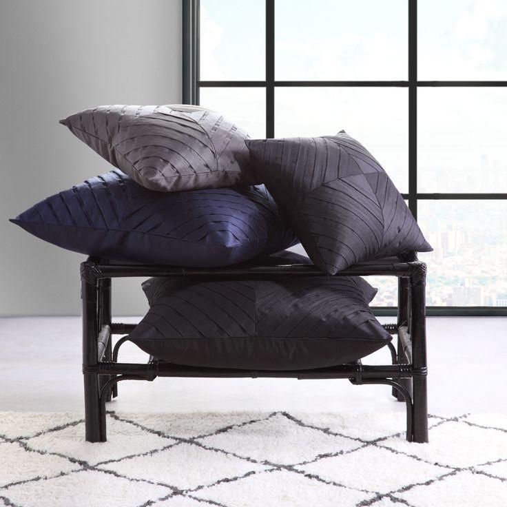 LOGAN & MASON ACCESSORIES - Kaleidoscope Square Cushions and European Pillowcases #black #accessories #cushion #home #décor #style #fashion #loganandmason