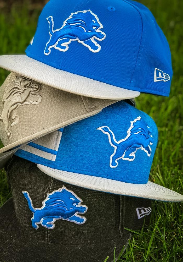07a3145ab2e New Era Detroit Lions Blue NFL18 Official Sideline Home 9FIFTY Mens  Snapback Hat - Wear your  Lions style with pride in this  DetroitLions New  Era Blue ...