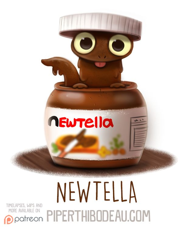 Daily Paint 1584. Newtella by Cryptid-Creations.deviantart.com on @DeviantArt