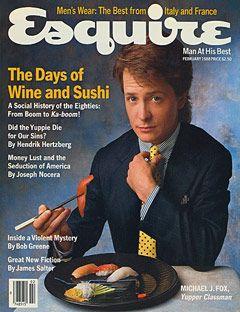 "Esquire, 1988, Michael J. Fox, ""Yupper Classman"""