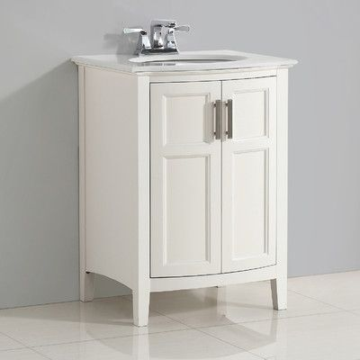 "Simpli Home Winston 25"" Single Rounded Front Bath Vanity Set"