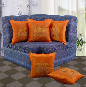 Embroidery  Cushion Cover (Pack of 5) By Dekor World