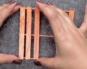 Glue Remaining Sticks | Make Mini Pallet Coasters From Popsicle Sticks