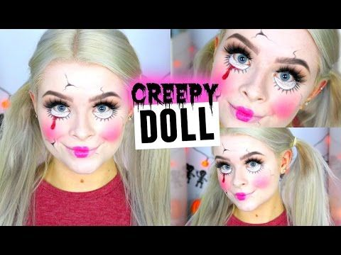 CREEPY CRACKED DOLL MAKEUP (Drugstore) | sophdoesnails - YouTube