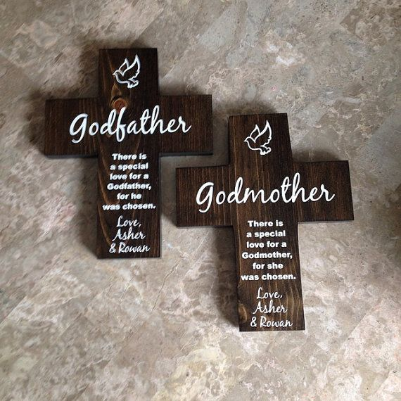 Catholic #godparent #cross gift  Godfather and Godmother by Frameyourstory #etsy