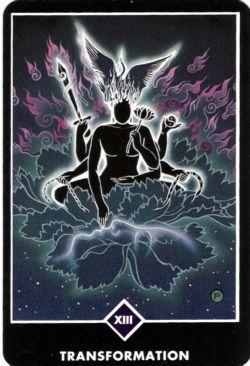 13, Transformação (A Morte) no Osho Zen Tarot de Ma Deva Padma