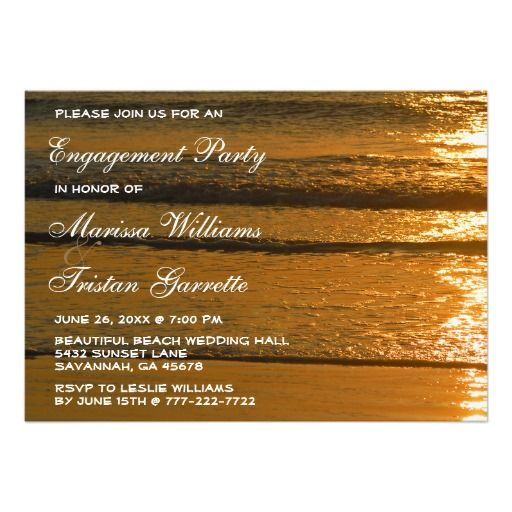 17 Best images about Beach themed Engagement – Beach Themed Engagement Party Invitations