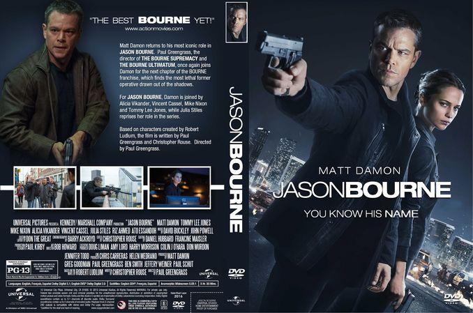 Jason Bourne 2016 Dvd Custom Cover Dvd Covers Dvd Cover Design Custom Dvd