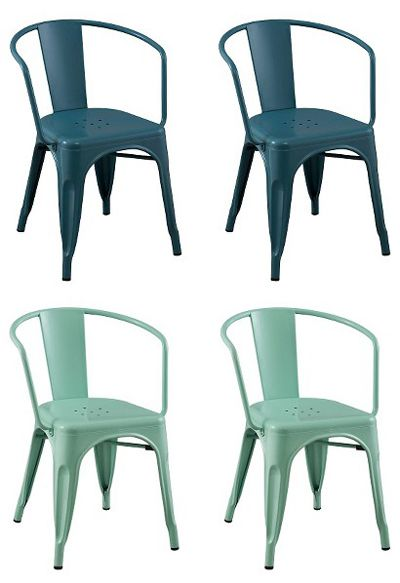 In one of these colors - Target - Carlisle Metal Dining Chair Set $100 for 2.