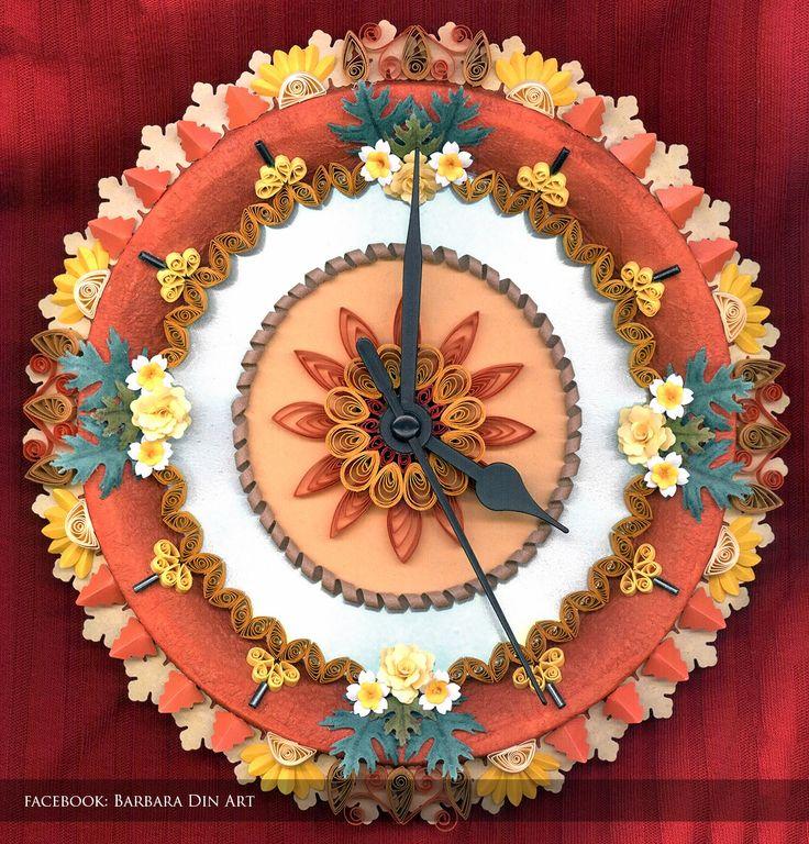 Quilled Wall Clock by dreamwarrior.deviantart.com on @deviantART