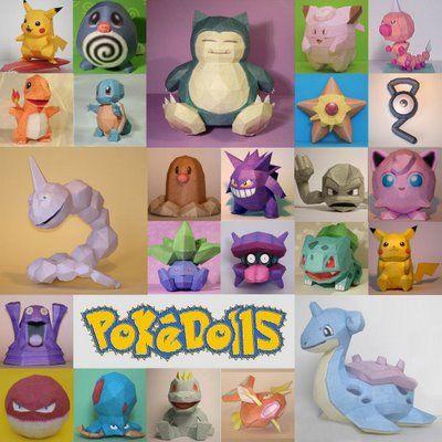 609 best pokemon images on Pinterest Origami Pokemon