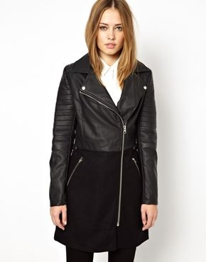 Oasis Leather Look Coat