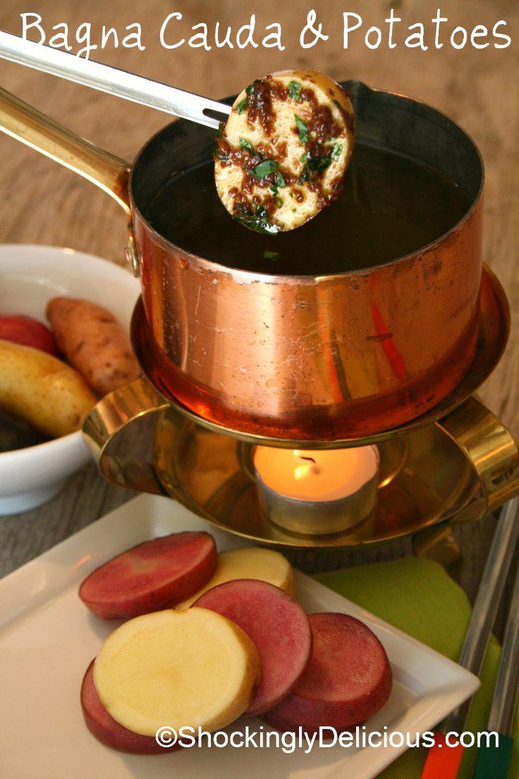 Bagna Cauda and Potatoes on ShockinglyDelicious.com (olive oil garlic ...