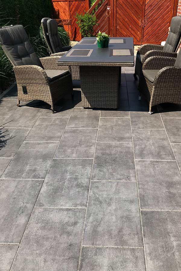 exclusive terrassenplatten mit woehe heydemann mit der. Black Bedroom Furniture Sets. Home Design Ideas