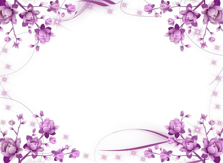 Garden floral seamless pattern on purple background watercolor vector - Purple Flower Frame Purple Flowers And Sparkly Stars