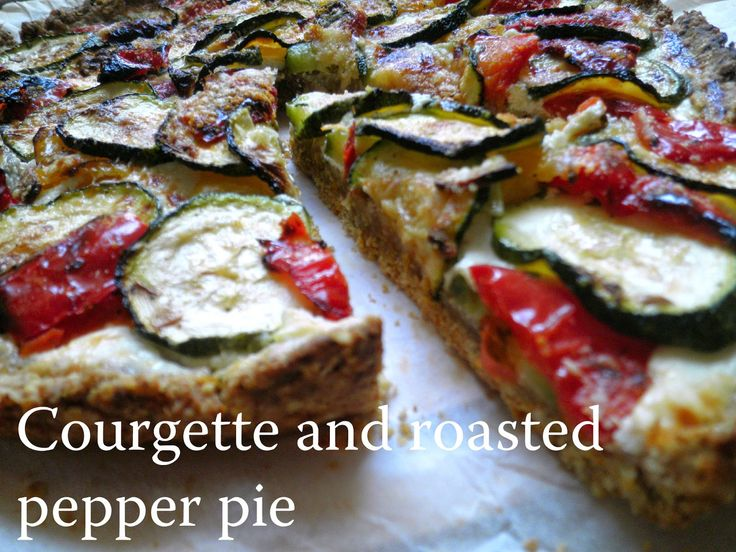 TynaTyna: Courgette and roasted pepper pie