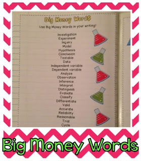 """""""Big Money Words"""" kids should be comfortable using in science First Week: Setting Up Science Notebooks {Photos Galore!}"""